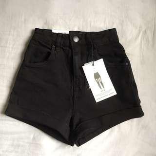 Cotton on High Waisted Black Shorts #SBUX50
