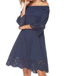 Lace Off Shoulder Dress#SINGLES1111