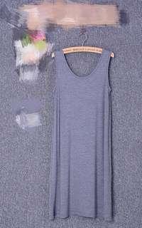 Grey Dress (Stretchable)#SINGLES1111