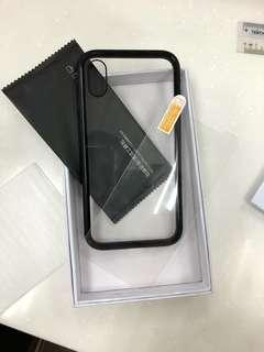 Magnetic Casing For IPhone X C/W 1 Temper Glass#SINGLES1111