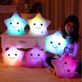 Colorful Stuffed Toy Gift Dolls LED Glowing Plush Pillows Cushion Light Up