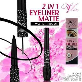 2IN1 EYELINER MATTE  ✔hypoallergenic  ✔longlasting 👉60 ONLY.. 👉👉👉PLEASE VISIT YURIS CLOSET👈👈 For more affordable and good quality products ✔we accept resellers ✔all in one shop ✔direct and legit since 2012..