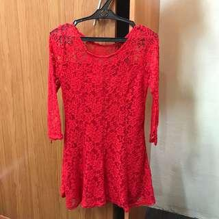 Preloved floral lace mini dress
