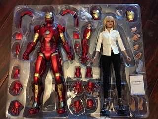 Hot toys iron man 3 pepper potts and mark IX