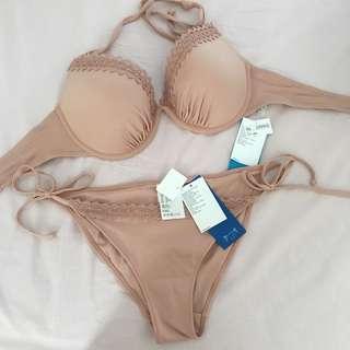 H&M Bikini In Nude Colour 36C 36D Cup Busa