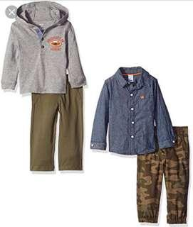 🚚 BN Carters Baby Boy 2 Piece Shirt Camo Pants Set 12mths!