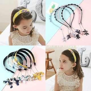 🚚 女童假耳環髮箍/女童流蘇珍珠箍/公主髮箍~總共有8種款式