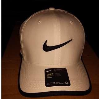美國百分百【全新真品】Nike 高爾夫球帽 耐吉 帽子 遮陽帽 棒球帽 運動 輕量 配件 男帽 白色