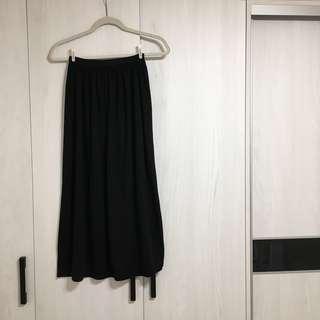 ⚫️ᴿ顯瘦簡約黑色長裙