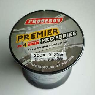 New - 20lb / 300m Premier PE4 Braided Line (GREY)