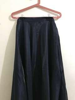 Apartment 8 Navy Blue Long Flowing Skirt (With Pockets on Both Sides)