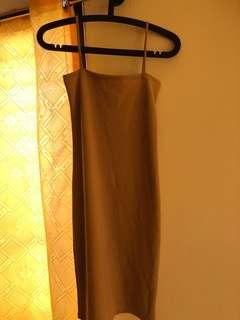 Nude square cami dress