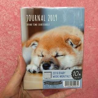 Shiba inu 2019 A6 schedule book planner journal diary agenda