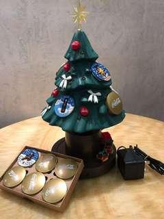 可樂聖誕樹,有音樂,有燈