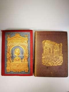 Antique German books (1883 & 1861) about ancent Roman and Greek