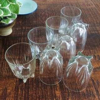 OFFER : 1950s Star Base Drinking Glasses