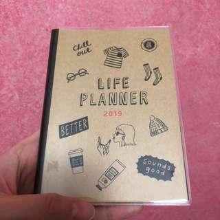 Life planner brown 2019 A6 schedule book planner diary journal agendA