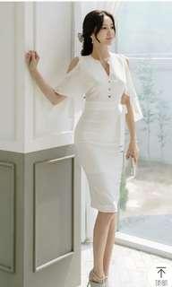 White Dress fairy like with drapes