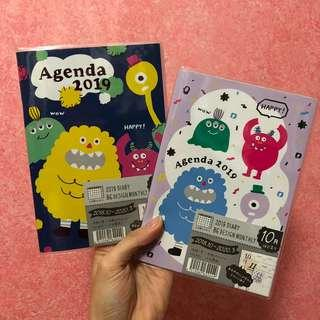 Whacky monsters 2019 B6 schedule book planner diary journal agenda