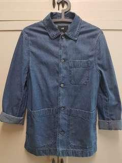 H&M cotton denim over shirt jacket
