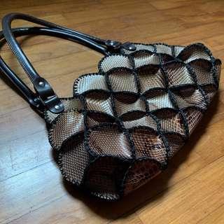 "Pseudo ""Snake"" Skin PVC handbag"