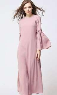 Dusty pink jubah maxi dress
