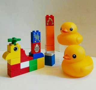 舊版 Lego ❌經典小黃鴨2隻 (歲月收藏品)