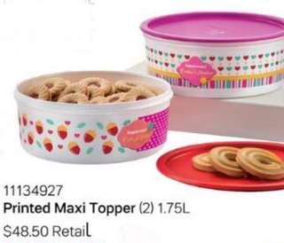 2pcs Tupperware Air tight One Touch Cookie Canister 1.75L / Maxi Topper
