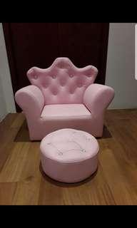 Kids princess couch and footstool