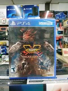 🆕 PS4 Street Fighter V Arcade Edition