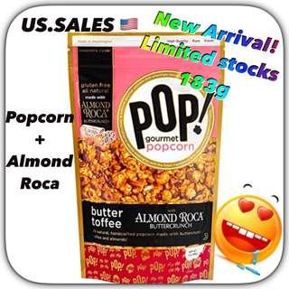 Newly Arrived from 🇺🇸 - Almond Roca Buttercrunch Toffee Popcorn