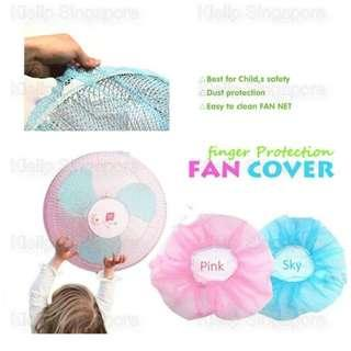 [Kibot-Home]Baby Kid Toddler Finger Protector Safety Dustproof Fan Guard Net Mesh Cover Netting/Prevent Kids Finger Touching Fan/Washable Anti-Dust Safety Protection