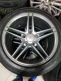 17 Inch 5x114.3 Used Original InForged Rim & Tyre