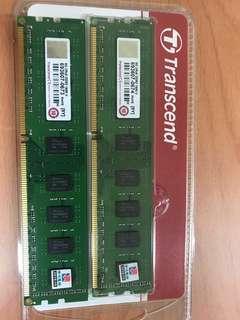 🚚 同品牌型號你能找得到更低-我就能賣更低: 全新未拆封 創見 transcend 2Rx8 DDR3 1600 U 桌上型記憶體