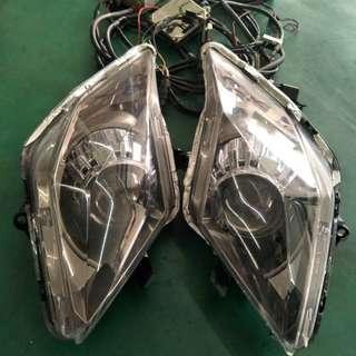 【中古】【零件】SYM 三陽 JET 魚眼 白光 功能正常 HID 大燈 鏡面無霧化