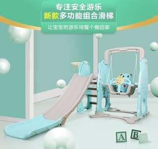 Free delivery 3 in 1 mint bear slide play yard