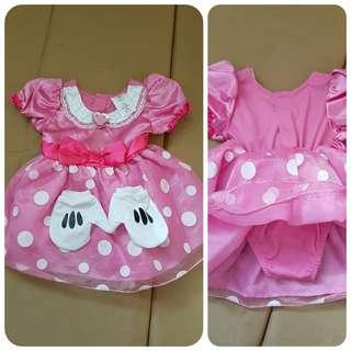 DISNEY MINNIE MOUSE DRESS COSTUME