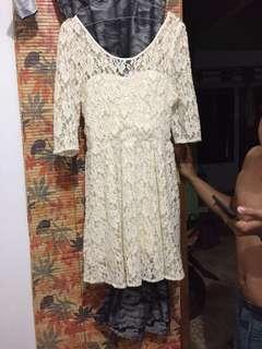 dres putih tulang cibi bahan wool