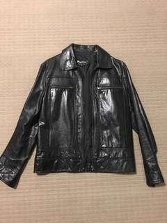 Politix leather jacket men's