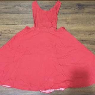 Preloved Red Jumper dress