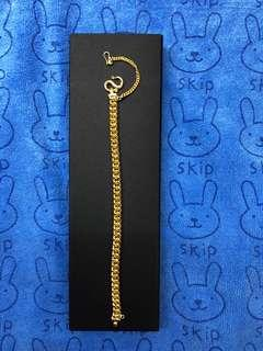 21-cm real gold, gold bracelet ❤️❤️💛💛💚💚💙💙