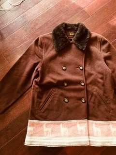 古著 Lauren meren美製毛料大衣 vintage