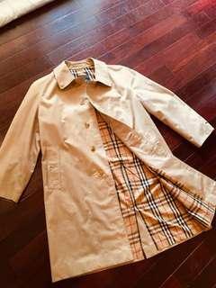 80s Burberry古董經典風衣 vintage