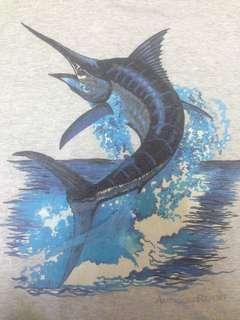 Vintage T-shirt Gambar Ikan