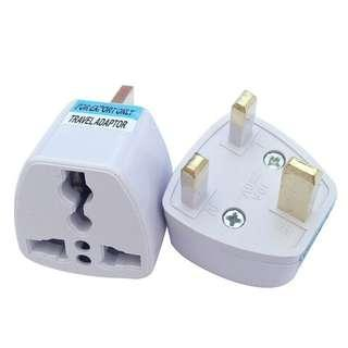 🚚 3 PIN PLUG TRAVEL ADAPTER Converter Outlet Universal USA/ EU/ CHINA/ ASIA/ AUSTRALIA to UK
