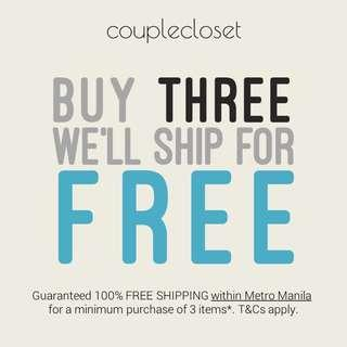 In case you didn't know yet... we offer FREE SHIPPING