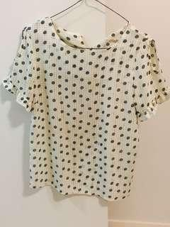 Blue and White Polka Dot Spot Shirt