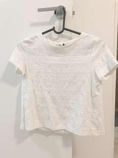 Zara White Top Blouse