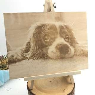🚚 Image Engraving on Wood with Easel Stand