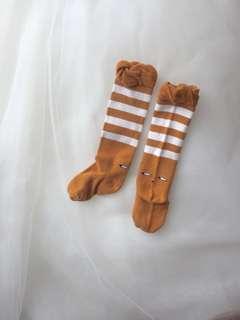 Peeping deer baby socks